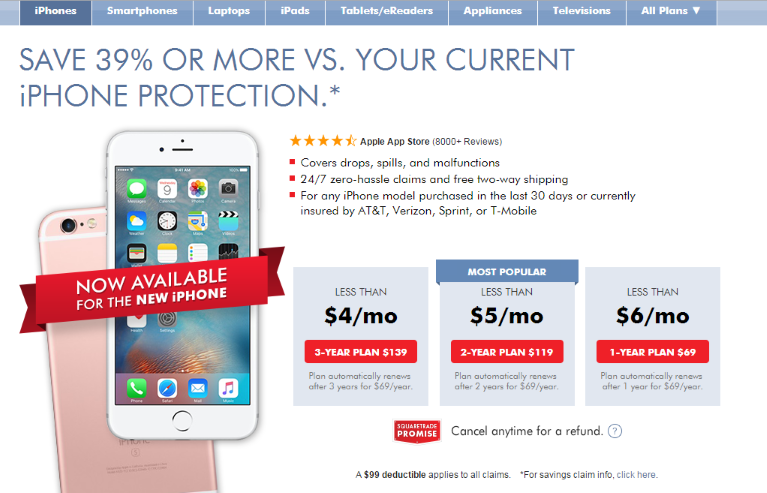 SquareTrade Protection Plans - iPhone