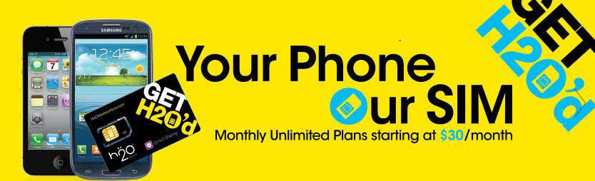 H2o Wireless Plans Starting At $30 Per Month, BYOP